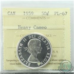50-cent 1959 ICCS Certified PL-67 Heavy Cameo