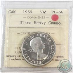 50-cent 1959 ICCS Certified PL-66 Ultra Heavy Cameo