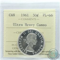 50-cent 1961 ICCS Certified PL-66 Ultra Heavy Cameo