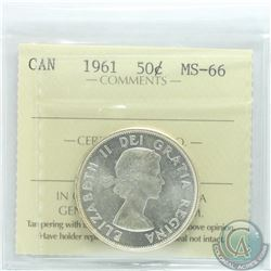 50-cent 1961 ICCS Certified MS-66