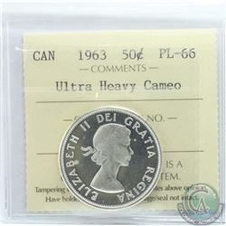 50-cent 1963 ICCS Certified PL-66 Ultra Heavy Cameo