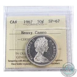 50-cent 1967 ICCS Certified SP-67 Heavy Cameo.