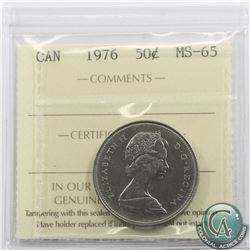 50-cent 1976 ICCS Certified MS-65