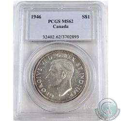 Silver $1 1946 PCGS Certified MS-62.