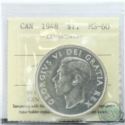 Silver $1 1948 ICCS Certified MS-60. *Key Date*