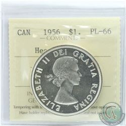 Silver $1 1956 ICCS Certified PL-66 Heavy Cameo