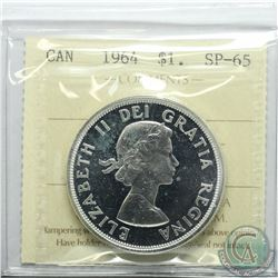 Silver $1 1964 ICCS Certified SP-65 Cameo