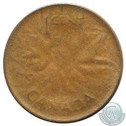 Canada 1-cent 1964 Capped Die Error EF-AU