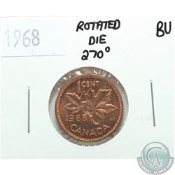 Canada 1-cent 1968 with Rotated Die of 270 Degrees B.U.