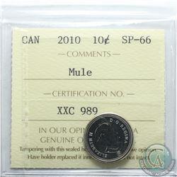 Canada 10-cent 2010 Mule ICCS Certified SP-66