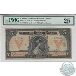695-18-12 1919 Standard Bank of Canada, White-Mcleod, S/N: 673592. PMG VF-25.