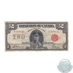 DC-26g 1923 Dominion of Canada $2, McCavour-Saunders, Red Seal, Group 2, Series P, S/N: P-858126/A i