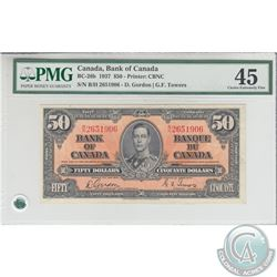 BC-26b 1937 Bank of Canada $50, Gordon-Towers, S/N: B/H2651906, PMG EF-45.