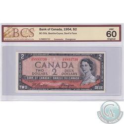 BC-30b 1954 Bank of Canada Devil's Face $2, Beattie-Coyne S/N: D/B8893730. BCS certified UNC-60 Orig