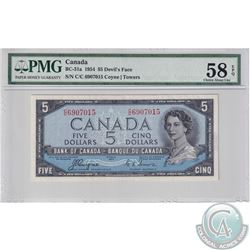 BC-31a 1954 Bank of Canada Devil's Face $5, Coyne-Towers, S/N: C/C6907015. PMG Certified Choice AU-5