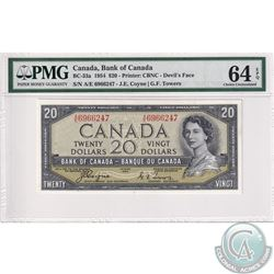BC-33a 1954 Bank of Canada Devil's Face $20, Coyne-Towers, S/N: A/E6966247, PMG Certified CUNC-64 EP