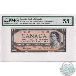BC-34a 1954 Bank of Canada Devil's Face $50, Coyne-Towers, S/N: A/H1241457. PMG Certified AU-55 EPQ
