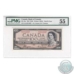 BC-35a 1954 Bank of Canada Devil's Face $100, Coyne-Towers, S/N: A/J0514597, PMG AU-55