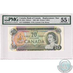 BC-50bA 1969 Bank of Canada $20, Lawson-Bouey, Replacement. S/N: *EZ9296941. PMG AU-55 EPQ.