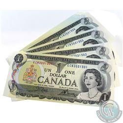 100x Consecutive UNC 1973 $1.00 Notes - ECN2031301-400. Includes RADAR note ECN2031302.