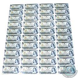 Uncut Sheet of 1973 $1.00 notes, 4x10 Format, Scarcer ECV Prefix.