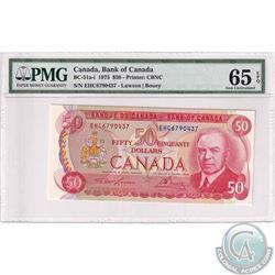 BC-51a-i 1975 Bank of Canada $50, Lawson-Bouey, S/N: EHC6790437. PMG GUNC-65 EPQ.