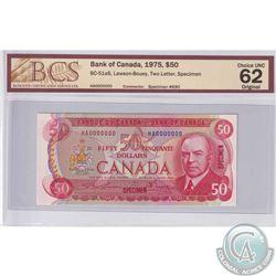 BC-51aS 1975 Bank of Canada Specimen $50. Lawson-Bouey. #690. BCS CUNC-63 Original.