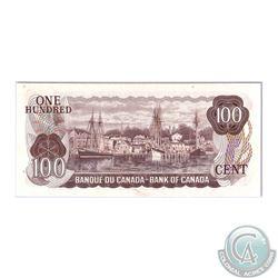 BC-52a-N1-iii 1975 Bank of Canada $100, Lawson-Bouey, 4 Digit RADAR, S/N: JB4902094. BCS UNC-60 Orig