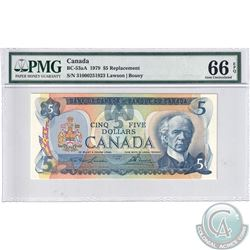 """BC-53aA 1979 Bank of Canada """"310"""" Replacement $5, Lawson-Bouey, S/N: 31000251923. PMG GEM UNC-66 EPQ"""