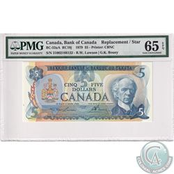 BC-53aA 1979 $5 1954 Bank of Canada '310' Replacement $5, Lawson-Bouey, S/N: 31002166132, PMG Certif