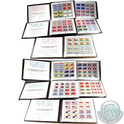 1980-1989 Flags of the United Nations Stamp Sets Complete Collection of Mint Sheetlets in Brown Leat
