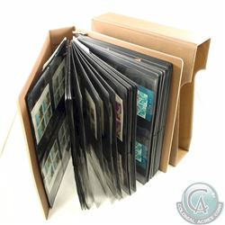 Estate Lot of Canada Modern Stamps in Blocks, MNH, inside of Large Leatherette Binder with Covering