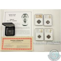 Bulk Lot; 2x Silver Coins of Ancient Rome: Elagabalus, AD 218-222 BI Tetradrachm (NGC Ancients: Ch F