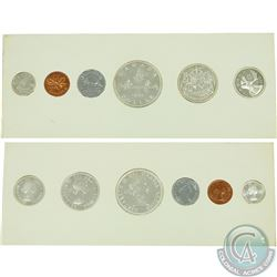 1954 NSF Proof-Like Set. This set has the rare NSF 1-cent coin, Coins are all bright some have some