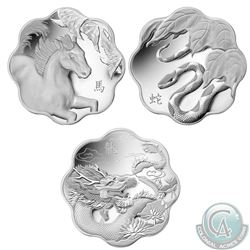 RCM Issue; 2012-2014 $20 Lunar Lotus Fine Silver Coins (Tax Exempt). You will receive the 2012 Drago