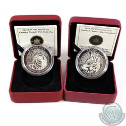 RCM Issue; 2013 $20 Untamed Canada - The Arctic Fox & The Pronghorn Fine Silver Coins (Tax Exempt).