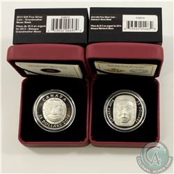 RCM Issue; 2013 & 2014 $25 Moon Mask Fine Silver Coins (Tax Exempt). You will receive the 2013 Grand