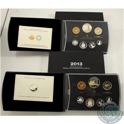 RCM Issue; 2013 & 2014 Fine Silver Proof Sets (Tax Exempt). Please note 2013 COA is stuck to inner p