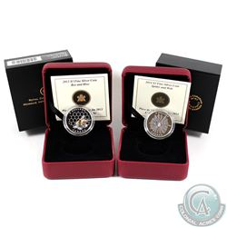 RCM Issue; 2013 Bee & Hive & 2014 Spider & Web $3 Fine Silver Coins (Tax Exempt). 2pcs.