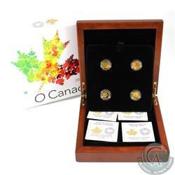 RCM Issue; 2014 $5 O Canada Fine Gold Collection in deluxe Presentation Case (Tax Exempt). This set