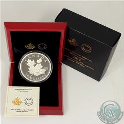 RCM Issue; 2014 $50 Maple Leaves 5oz. Fine Silver Coin (Tax Exempt).