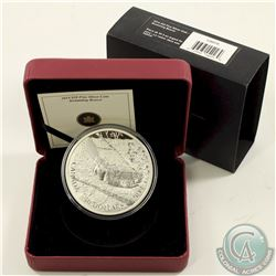 RCM Issue; 2014 $50 Swimming Beaver 5oz. Fine Silver Coin (Tax Exempt).