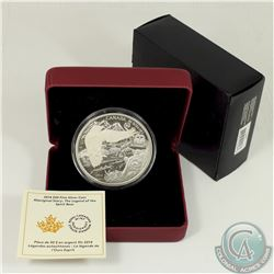 RCM Issue; 2014 $50 The Legend of the Spirit Bear 5oz. Fine Silver Coin (Tax Exempt).