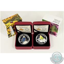 RCM Issue; 2014 & 2015 $20 Butterflies of Canada Fine Silver Coins (Tax Exempt). You will receive th
