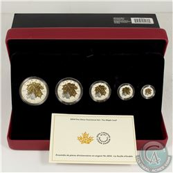 RCM Issue; 2014 The Maple Leaf Fine Silver Fractional Set (Tax Exempt).