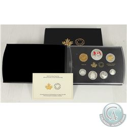 RCM Issue; 2015 Coloured 50th Anniversary Canada Flag Fine Silver Proof Set (Tax Exempt).