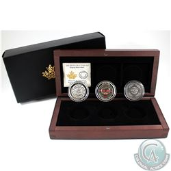RCM Issue; Complete 2015 $25 Singing Moon Mask Fine Silver 3-coin Set (Tax Exempt). Set comes with t