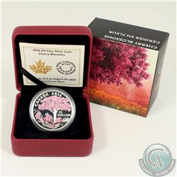 RCM Issue; 2016 Canada $15 Cherry Blossoms Fine Silver Coin (Tax Exempt).