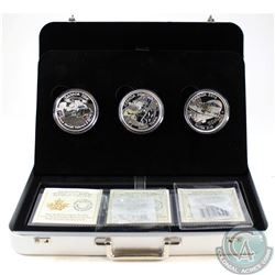 RCM Issue; 2016 $20 Canada Aircraft of WWI 3-Coin Fine Silver Set in Deluxe Case (Tax Exempt).