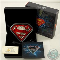 RCM Issue; 2017 $100 DC Comics Originals - Superman's Shield 10oz Silver (Tax Exempt).